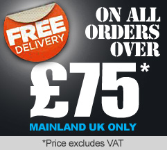 FREE DELIVERY on all orders over £75.00 plus VAT. Mainland UK only.