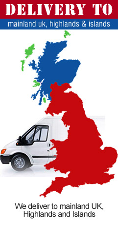 We deliver to mainland UK, Highlands & Islands.