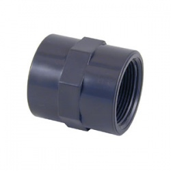 1'' BSP x 1'' BSP Threaded Socket - PVCu Pressure Pipe