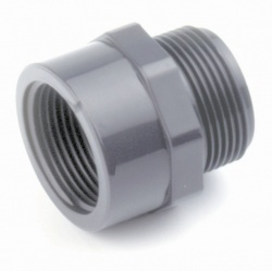 1¼'' Male BSP x ½'' Female BSP Threaded Reducing Nipple - PVCu Pressure Pipe