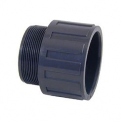 63mm Solvent Joint x 2'' Male BSP Bush - PVCu Pressure Pipe