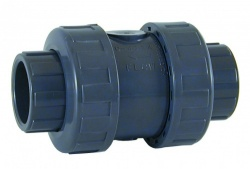 75mm Double Union Check Valve - Solvent Socket - PVCu Pressure Pipe