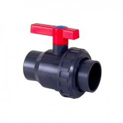 63mm Single Union Ball Valve - Solvent Socket - PVCu Pressure Pipe