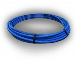 90mm PE100 SDR17 10Bar Blue x 50m coil