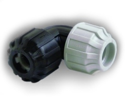25mm 90˚ MDPE Elbow x ∅21 - 27mm (½'') Universal