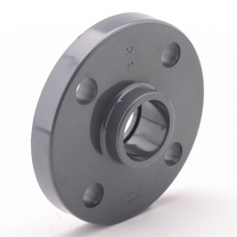 110mm Full Face Fixed Flange - Solvent Joint - PVCu Pressure Pipe