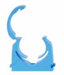 32mm Blue MDPE Hinged Clip - Bag of 20