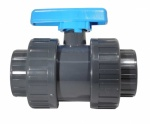 20mm Double Union Ball Valve - Solvent Socket - PVCu Pressure Pipe