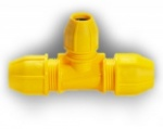 32mm x 32mm x 25mm Gas Compression Reducing Tee