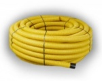 Perforated Yellow Gas Duct 60mm x 25m Coil